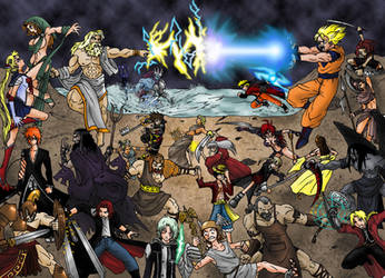 Gods and Heroes by taresh