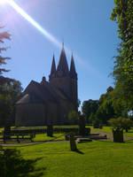 Light on Church by lennarrrt