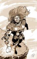 Thor B/W by deralbi