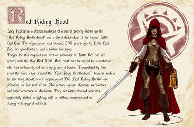 Fairy Tales gone Spandex - Little Red Riding Hood by deralbi