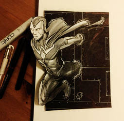 Inktober 2015 Day 02 - THE VISION by deralbi