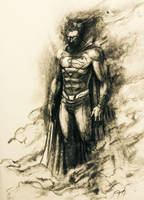 Man of charcoal by deralbi