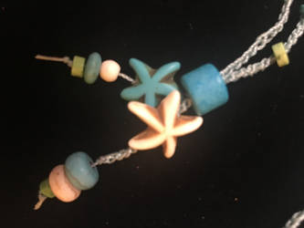 Into The Ocean Crocheted Necklace 3 by MindfullyArtistic