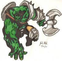 The Incredible Hulk by Shigdioxin