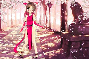 Art Trade : Sakura Flowers by WhiteMoonA
