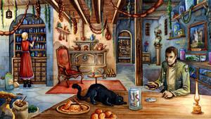 Marrowmire website: Grimsquire's cottage by MichaelBrack