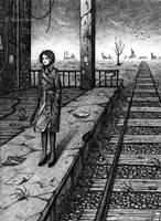 The station platform by MichaelBrack