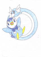 piplup and dratini coloured by Lunastralis