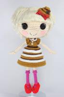 LALALOOPSY Bun Bun Sticky Icing Amigurumi Doll by Npantz22