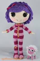 LALALOOPSY Pillow Featherbed Amigurumi Doll by Npantz22
