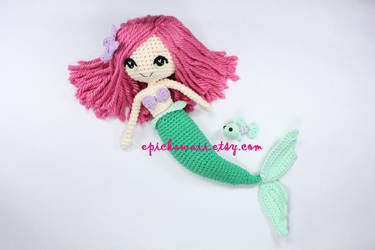 The Little Mermaid Crochet Amigurumi Doll by Npantz22
