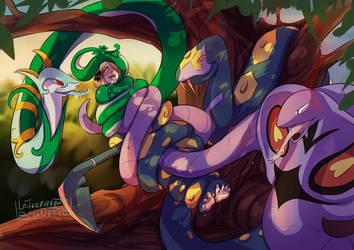 cynthia and kages snakes  by keendeemiyavi