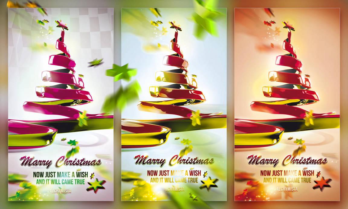 Christmas Ribbon Tree by csuz