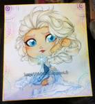 Shikishi Frozen - Elsa by Chibi-Lili
