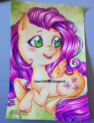 Watercolor - Fluttershy by Chibi-Lili