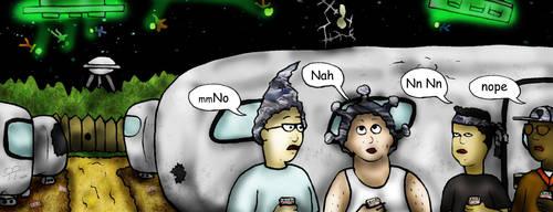 Alien vs Trailer Park by DigiratComics