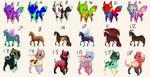 Mixed Adoptables [8/18 OPEN] by Jiheisho-AAA