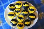 Batman birthday cupcakes by dimebagsdarrell
