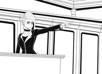 Ace Attorney Denisa Flowes by GGDavid