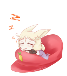 ID. Sleepy Bunny by waterloks