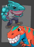 Anamorphic characters by Figgs45