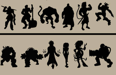 Character silhouettes by Figgs45