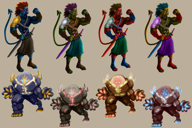Hero:Villain Character Variations by Figgs45
