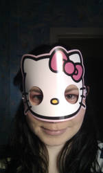 hello kitty mask by kitten-Red