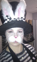White Rabbit Whiskers by kitten-Red