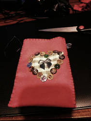 Phone pouch by kitten-Red