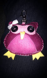 Pink Owl 1 by kitten-Red