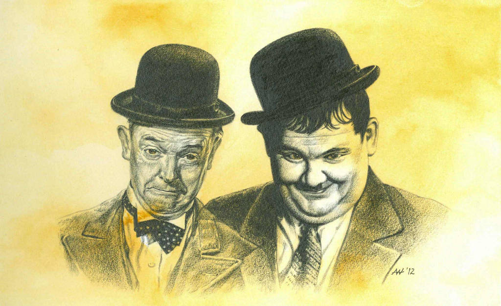 MR LAUREL AND MR HARDY by Herbarianband