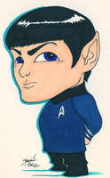 Chibi-Spock. by hedbonstudios
