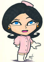 Chibi-Dr. Girlfriend. by hedbonstudios