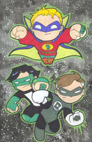 Chibi-Green Lanterns. by hedbonstudios