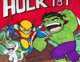 Chibi-Hulk 181. by hedbonstudios