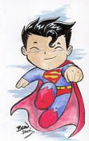 Chibi-Superman. by hedbonstudios