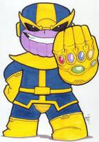 Chibi-Thanos. by hedbonstudios