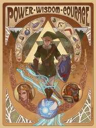 Art Nouveau Legend of Zelda tribute by ZFischerillustrator