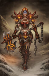 Diablo III Barbarian by ZFischerillustrator