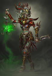 Diablo II Witch Doctor by ZFischerillustrator