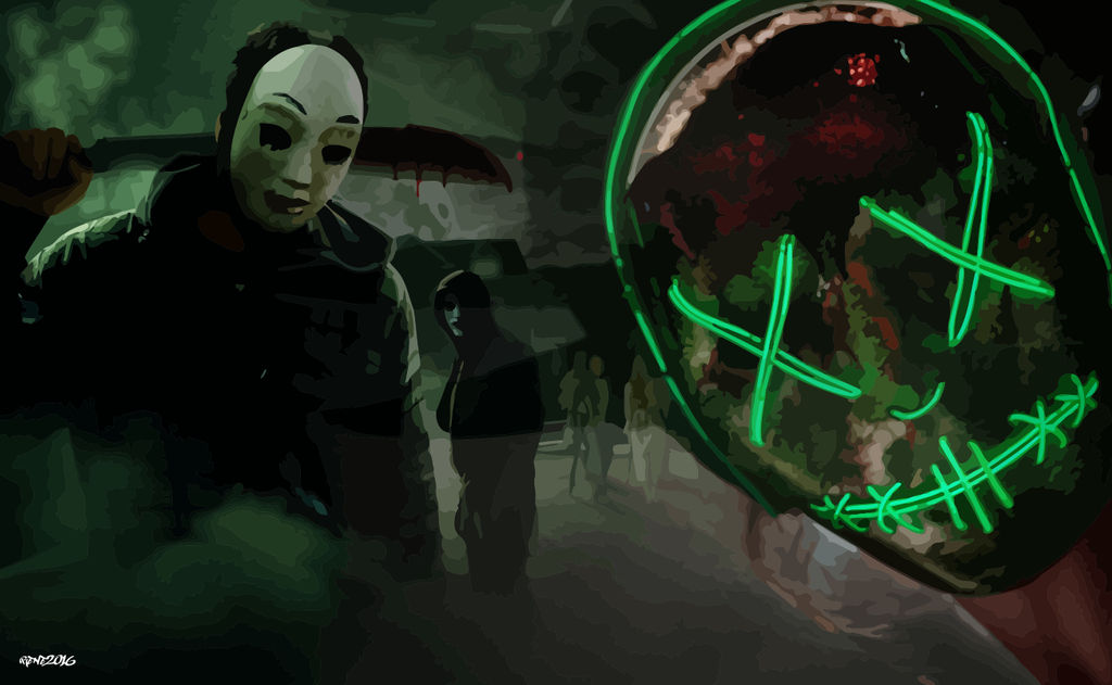 The Purge Tribute Wallpaper Vector By Elclon