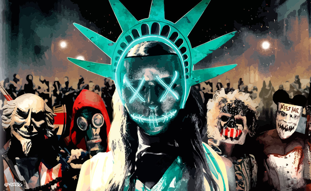 The Purge Election Year Poster Wallpapers: Vector Wallpaper 3 By Elclon On