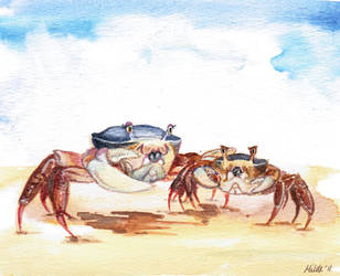 Mrs Crab and son by Hild3