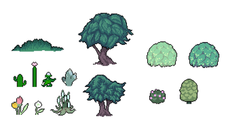 Pixel Plants (Aug 2013) by emimonserrate