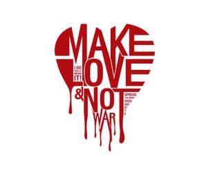 Make love - not war by Noergaard