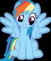 Rainbow Dash Happy by krazy3