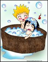 Sasunaru bath by poisondanny