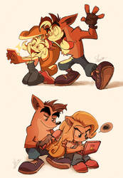 Crash Bandicoot is best big brother by Shira-hedgie