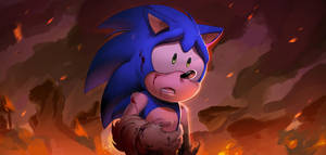 Sonic Forces Reveal Trailer painting by Shira-hedgie